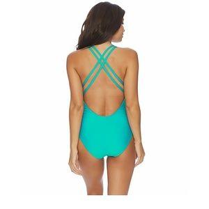 6a62afd4a6 Athena Swim | Criss Cross Teal One Piece Bathing Suit 10 | Poshmark